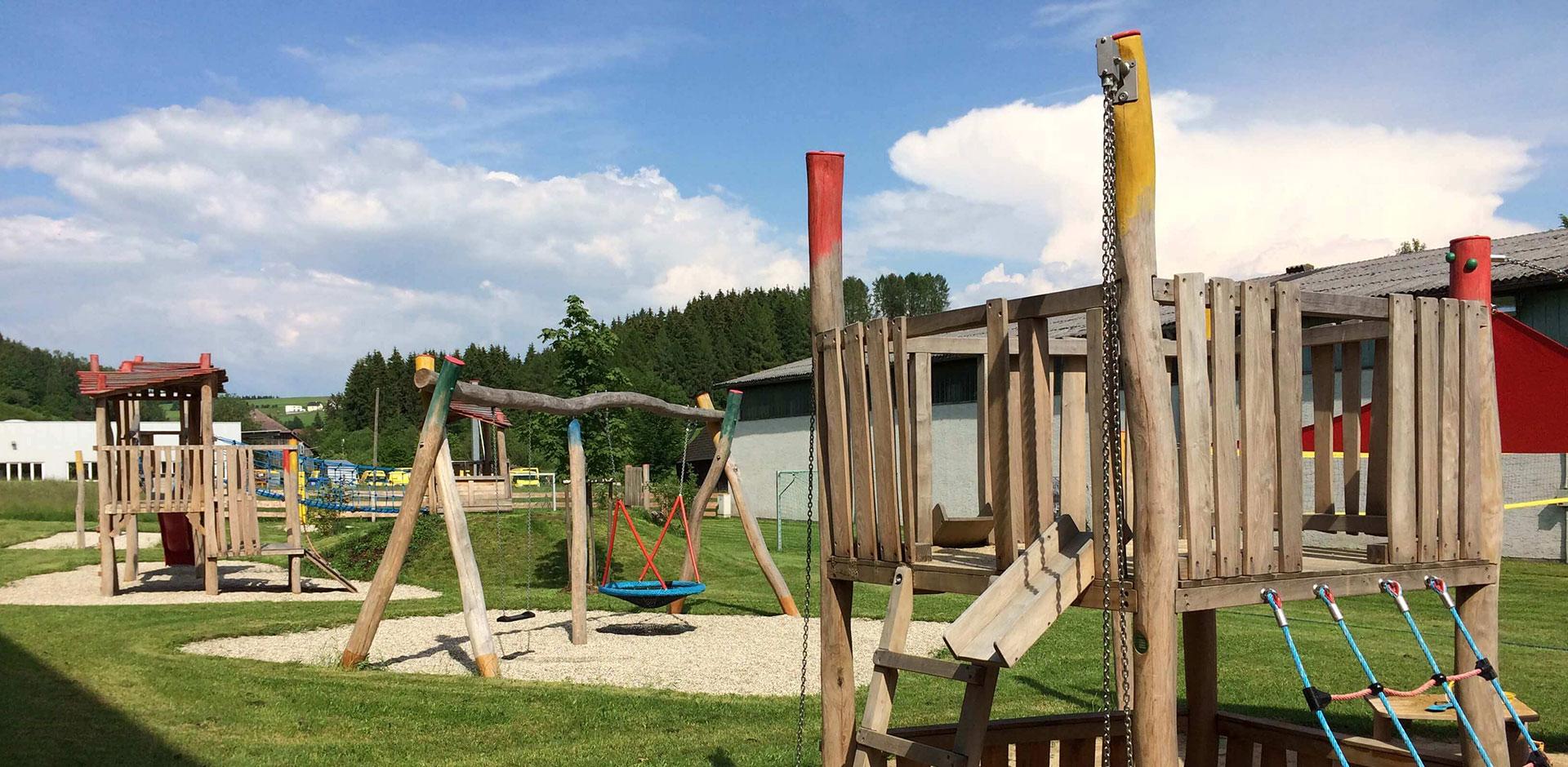 Outdoor Spielbereich Familienhotel Zwettlerhof